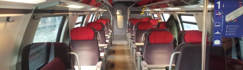 Bild aus einem Doppelstockwagen der 1. Klasse