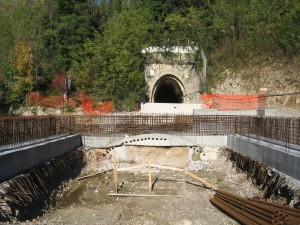 55 TunnelportalKonturen neues Tunnel von Westen