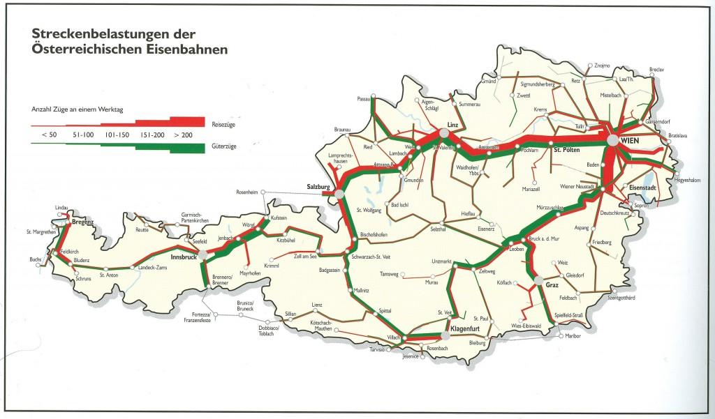 Karte Wien HB Frequenzen