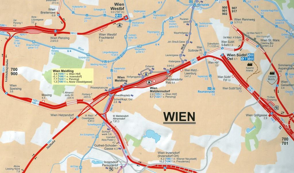 Karte Wien HB U-Bahn