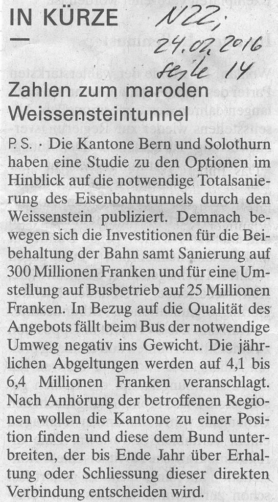 Weissenstein NZZ neu