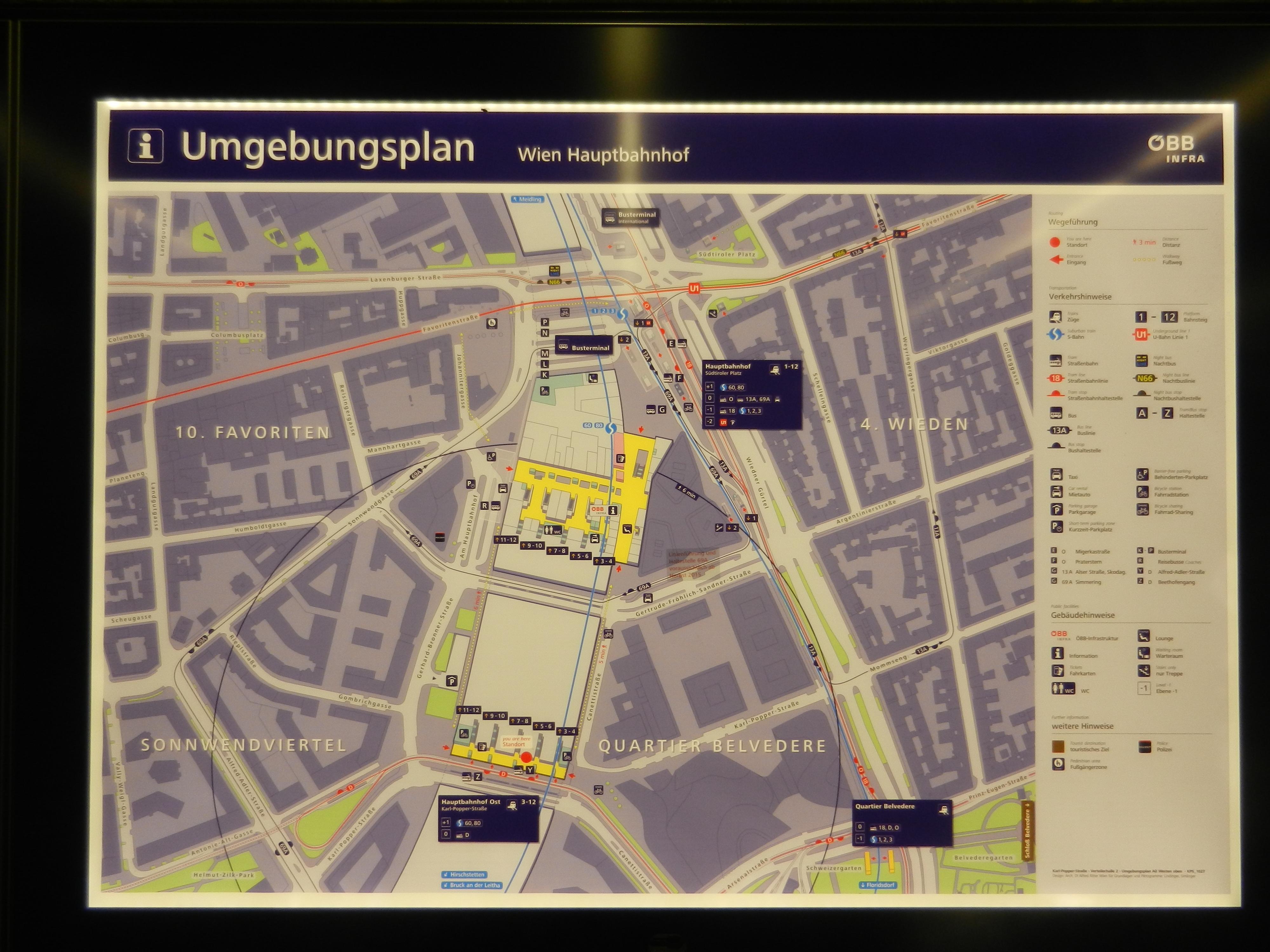 Wien 1 Umgebungsplan