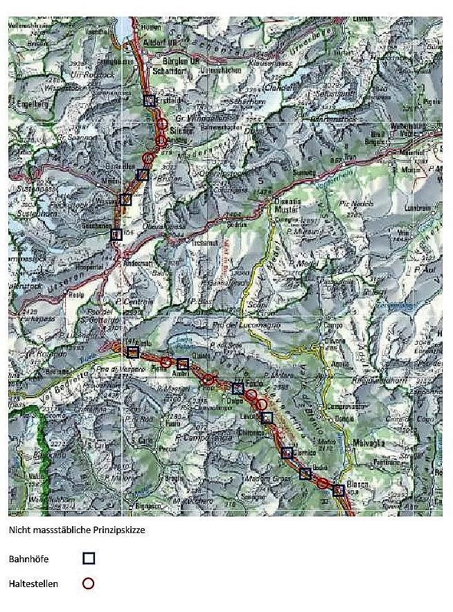 Karte Gotthard